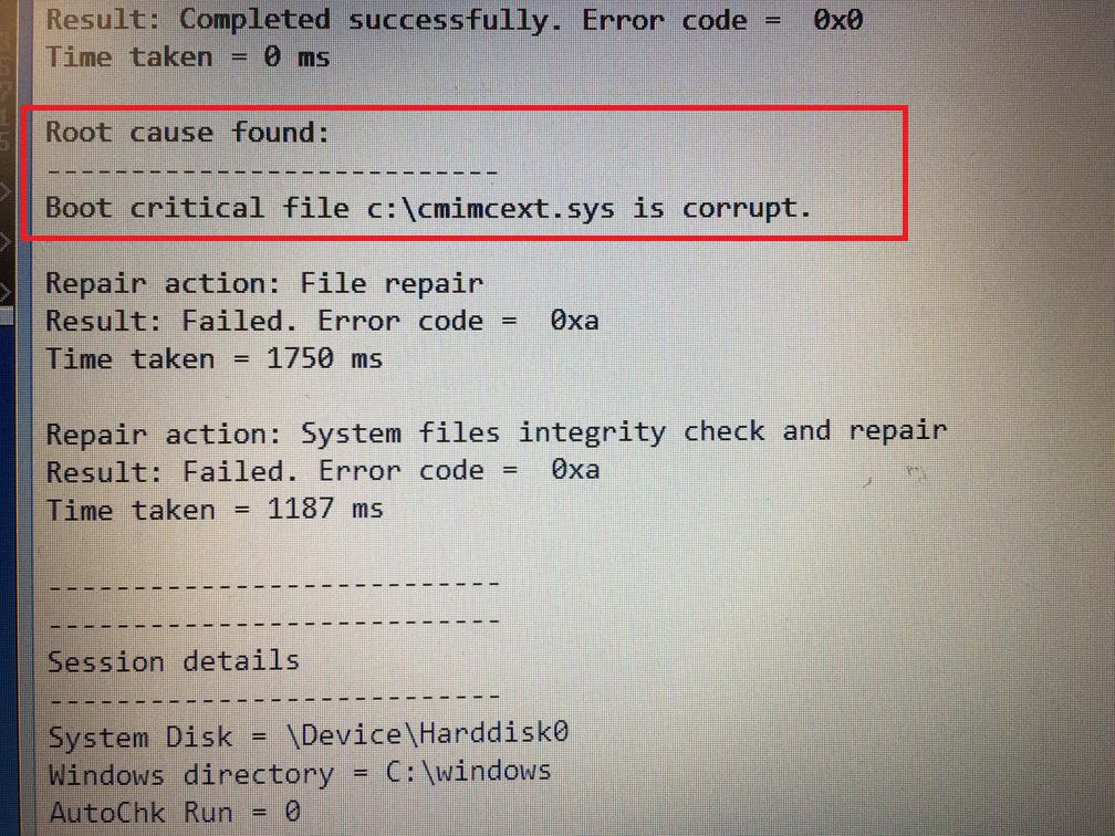 Log file cmimcext.sys