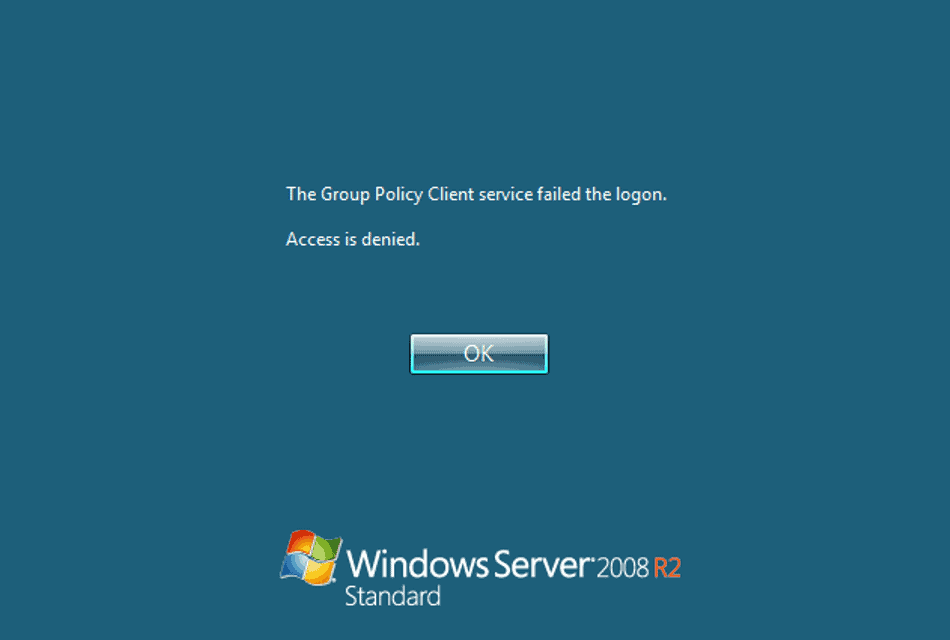 The Group Policy Client service failed the Logon – Access is denied