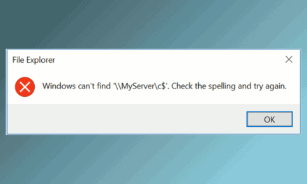 File Explorer – Windows can't find \\Server\Share. Check the spelling and try again