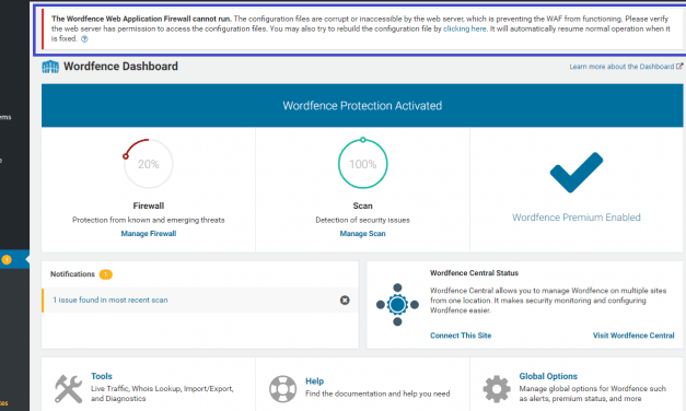 WordPress: The Wordfence Web Application Firewall cannon run – Azure App Services