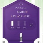 Dyson Fan – PM10 and PM2.5 Severe 999